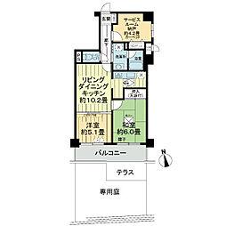 ライオンズヒルズ横浜鴨居[1階]の間取り