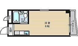 シャンクレール南堀江[2階]の間取り