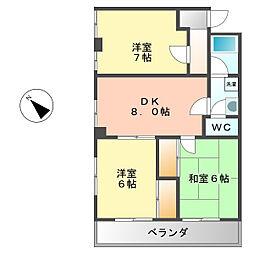 山田ハイツ[305号室]の間取り