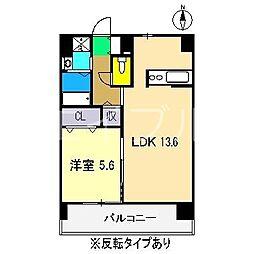 エルフィーノII[4階]の間取り