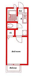 コースト辻堂[2階]の間取り