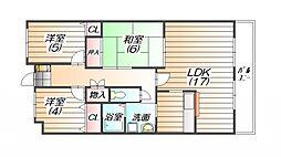 ドマーニ三田横山[1階]の間取り