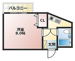 シャトーレ瑞穂[4階]の間取り