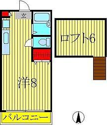 優友館[2階]の間取り
