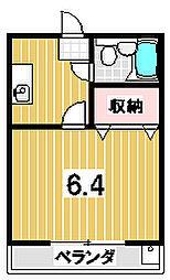 森マンション6[203号室]の間取り