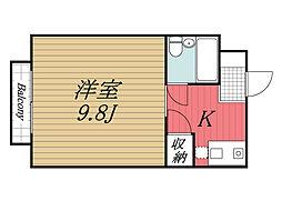 千葉県成田市飯田町の賃貸マンションの間取り