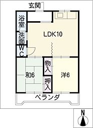 愛知県名古屋市千種区桜が丘の賃貸マンションの間取り