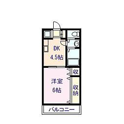 新深江池田マンション[4階]の間取り
