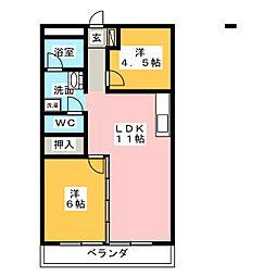 ロイヤルプラザ山田[2階]の間取り