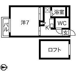コーポSaitou[104号室]の間取り