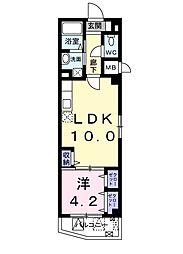 東京都墨田区京島3丁目の賃貸マンションの間取り