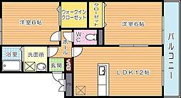 ケイズスクエア D棟[2階]の間取り