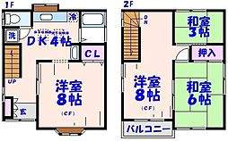 [一戸建] 千葉県市川市東大和田2丁目 の賃貸【/】の間取り