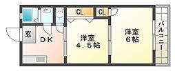 サンハイツ妙法寺[2階]の間取り