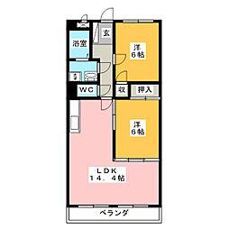 エリジオンII[3階]の間取り