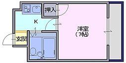 アメニティホウコク[2階]の間取り