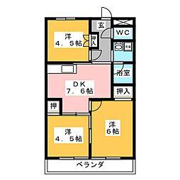 レジデンスITAZU[3階]の間取り