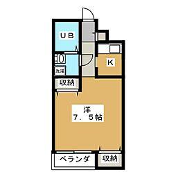 ルシールカビーナ[2階]の間取り