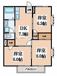 ドミ−ルナンキ[2階]の間取り