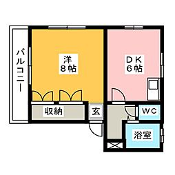 アパーション秀浩[1階]の間取り