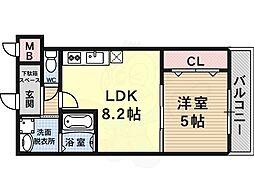 フジパレス クレアトゥール正覚寺1番館 1階1LDKの間取り