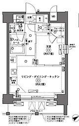 ZOOM横浜 2階1LDKの間取り