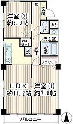 第2ハイツ和田[3階]の間取り