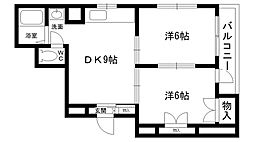 パールマンション[205号室]の間取り