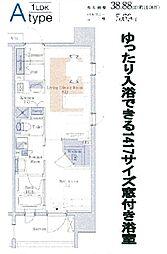 パークアクシス心斎橋[2階]の間取り