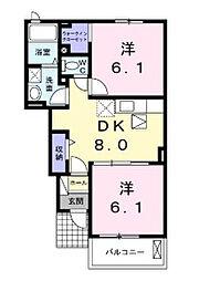 ルミナーレI[1階]の間取り