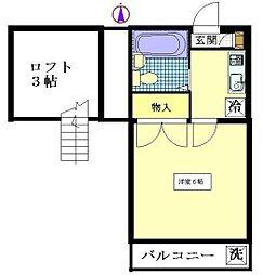 ユーズアーク2[2階]の間取り