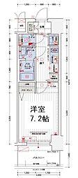 エステムコート南堀江Ⅲチュラ[2階]の間取り
