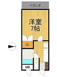 リーストラクチャー塚口Ⅱ[4階]の間取り