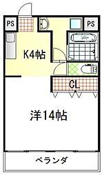 滋賀県彦根市開出今町の賃貸マンションの間取り