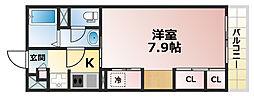 兵庫県神戸市灘区赤坂通7丁目の賃貸マンションの間取り