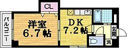 ルネッサ桃山[1階]の間取り