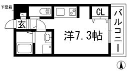 柊[3階]の間取り