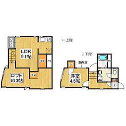 JR鹿児島本線 箱崎駅 徒歩8分の賃貸アパート 1階1SLDKの間取り
