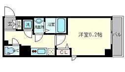 フォーチュン心斎橋イースト[2階]の間取り