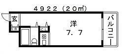 朝日プラザ天王寺西パサージュ[2階]の間取り