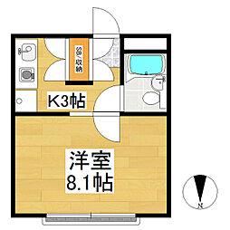 長野県松本市蟻ケ崎1丁目の賃貸マンションの間取り