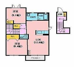 シャーメゾンセーラD[2階]の間取り