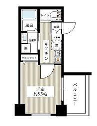 東京都大田区矢口1丁目の賃貸マンションの間取り