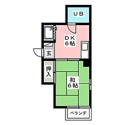 第7オ−シャンビル[2階]の間取り