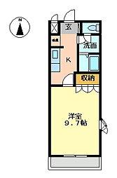 グリーンパークD[1階]の間取り