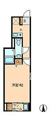 千葉県松戸市西馬橋1の賃貸アパートの間取り