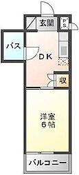 徳島県徳島市伊月町4丁目の賃貸マンションの間取り