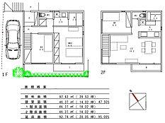 建物参考プラン(2階建て・延床面積92.74平米 2650万円税別 伊佐ホームズ設計)