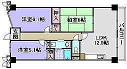 ルノン和泉中央[202号室]の間取り