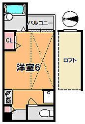 シティパレス奈良町P−2[2階]の間取り